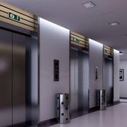 现代简约风格会场电梯装饰