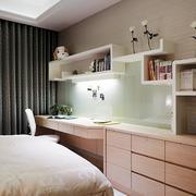 别墅简约风格卧室置物架装饰