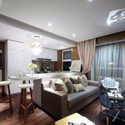 混搭风格简约客厅样板房装饰