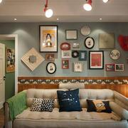 婚房简约风格照片墙装饰