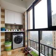 韩式清新内嵌式阳台装饰
