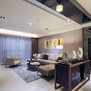 三室一厅简约风格客厅吊顶装饰
