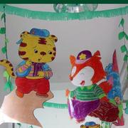 简约风格幼儿园卡通吊顶墙饰装饰