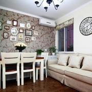 小户型简约风格沙发背景墙装饰