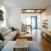 复式楼简约风格客厅电视柜装饰