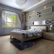 后现代风格房间背景墙置物架装饰