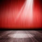 舞台红色帷幕装饰
