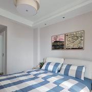 二手房简约风格卧室床头背景墙
