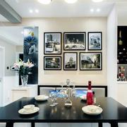三室一厅简约风格客厅置物架装饰