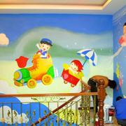 幼儿园简约风格教室背景墙装饰