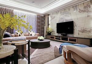 新中式风格别墅客厅电视背景墙