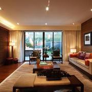 混搭风格暖色系客厅装饰