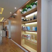 住宅式商品房简约客厅置物架装饰