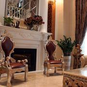 别墅简约风格纯白色壁炉效果图