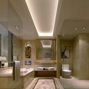 简欧风格别墅卫生间样板房装饰