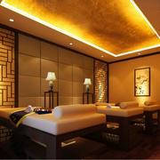 美容院简约风格欧式背景墙装饰