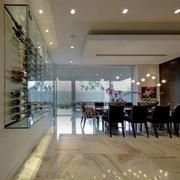 后现代风格玻璃式酒柜装饰