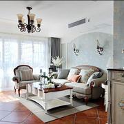 复式楼欧式简约风格客厅地板装饰