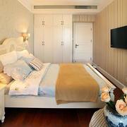 欧式简约风格房屋卧室整体衣柜装饰