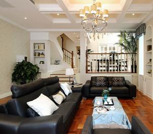 欧式别墅皮制客厅沙发