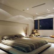 现代简约风格卧室榻榻米效果图