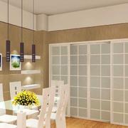 韩式清新餐厅吊顶装饰