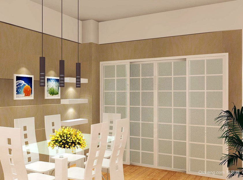 尽情彰显人文情怀:家庭实用美观餐厅吊顶装修效果图欣赏实例