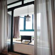 日式简约风格浅色飘窗装饰