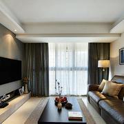 三室一厅简约风格客厅飘窗装饰