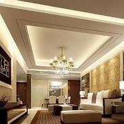 欧式简约风格客厅石膏板吊顶装饰