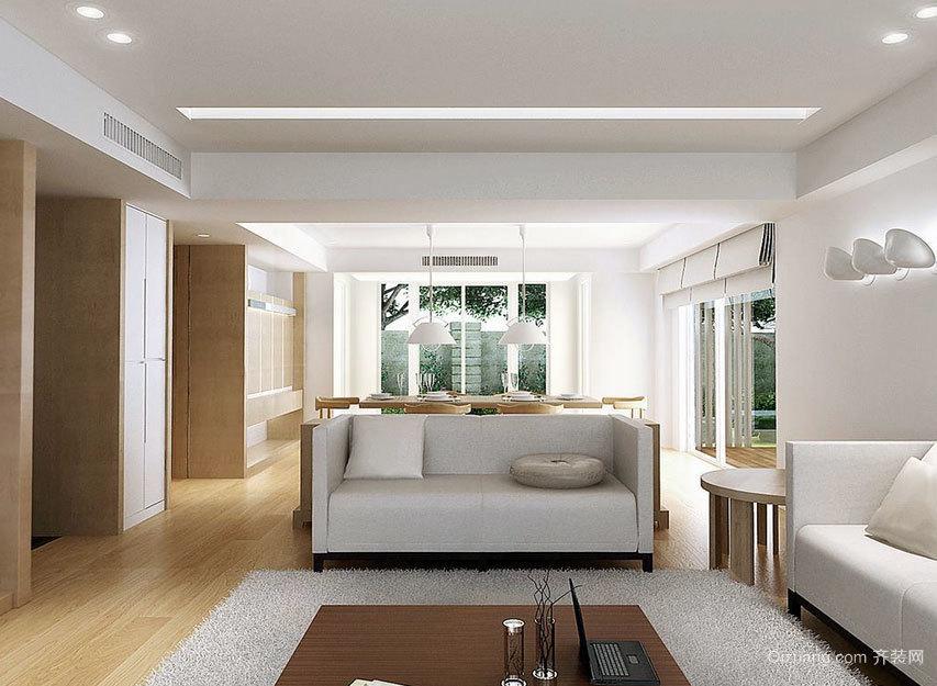 特色鲜明:大户型北欧风格客厅实木沙发背景墙效果图鉴赏