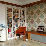 120平米书房整体书柜设计