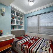三室一厅简约风格书房榻榻米装饰