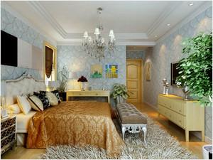 欧式风格卧室样板房装饰
