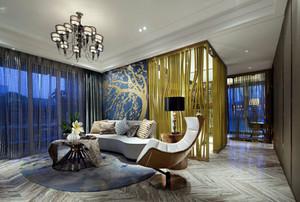后现代风格浅色客厅地板装饰