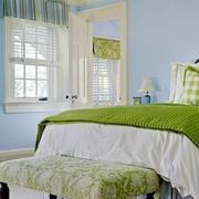 地中海风格简约卧室飘窗装饰