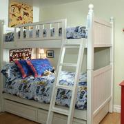 美式简约白色儿童房床饰装饰