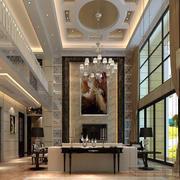 欧式简约风格复式楼餐厅装饰
