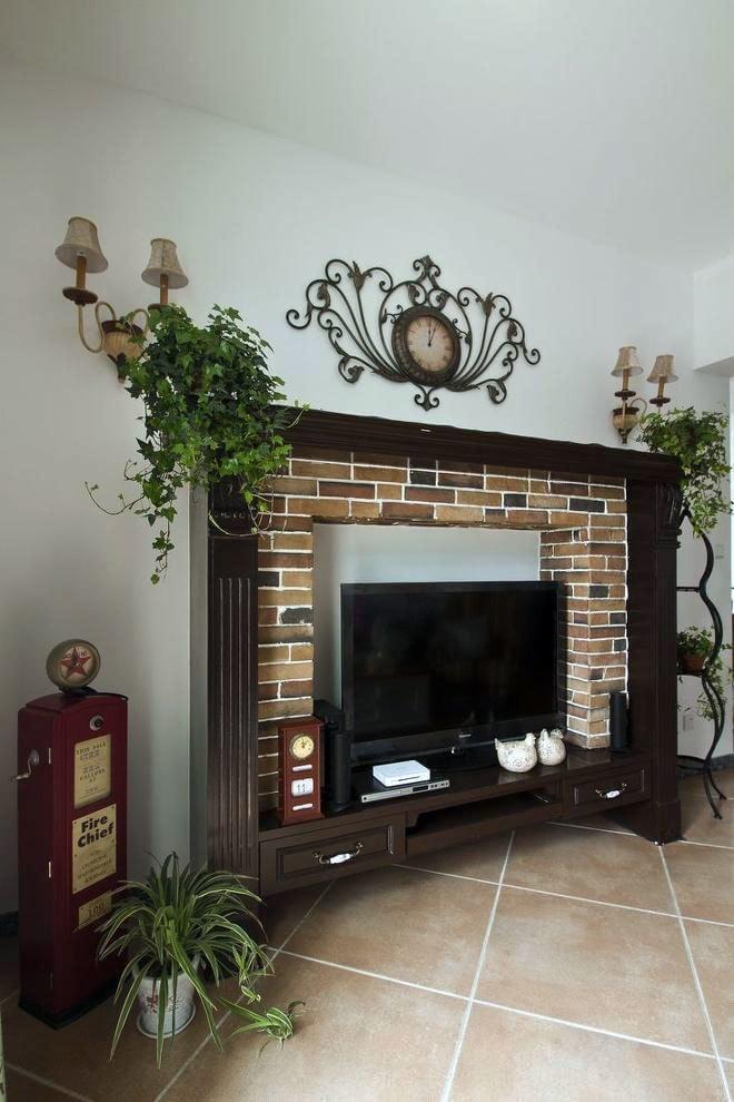各具特色的美式客厅电视背景墙装修效果图