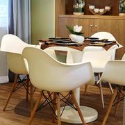 复式楼简约风格餐厅桌椅装饰