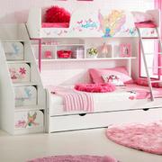 美式粉色系上下铺装饰