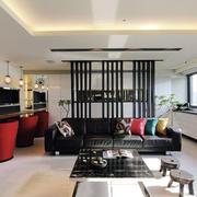 后现代风格简约客厅隔断装饰现代简约风格客厅隔断效果图