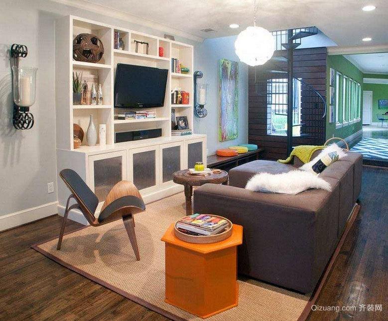 缓解精神压力:完美精致的客厅电视柜设计效果图实例鉴赏