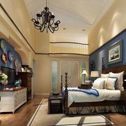 地中海风格简约卧室电视柜中式