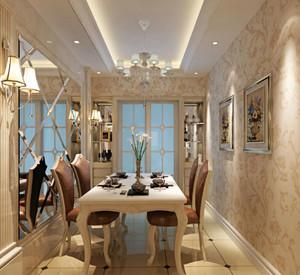 视觉盛宴:欧式精美奢华餐厅背景墙装修效果图