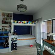 儿童房简约电脑桌设计
