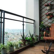 简约高层阳台效果图