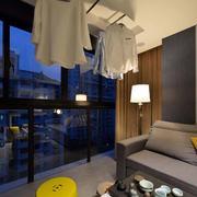 公寓简约阳台效果图