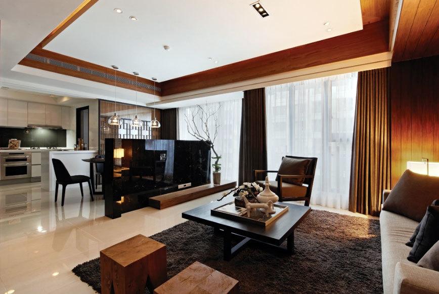 没有过多夸张赘饰70平米两居室小户型装修设计效果图