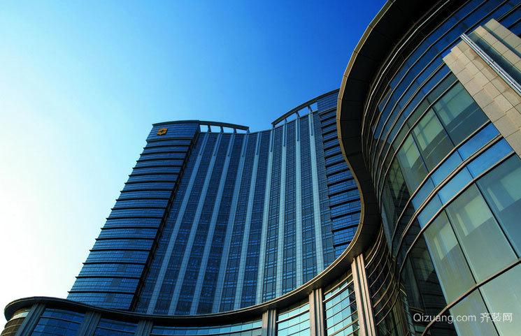 城市的风景线:都市工装楼层明框玻璃幕墙装修效果图实例鉴赏
